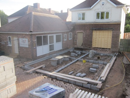 Building Extension Commences 387 Vets
