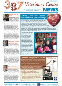 387 Vets summer newsletter - screen shot